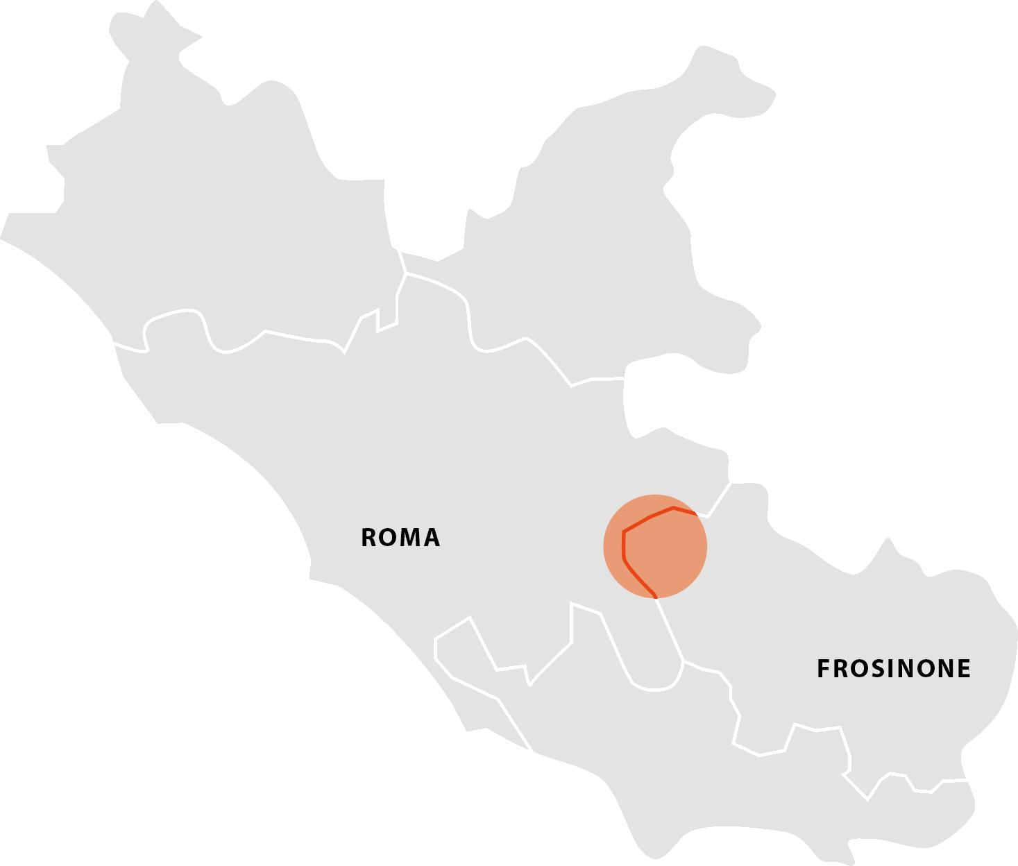 mappa zona di produzione lazio